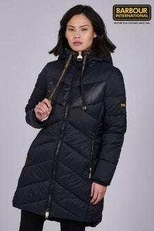 Barbour® International Black Hooded Portimao Padded Jacket