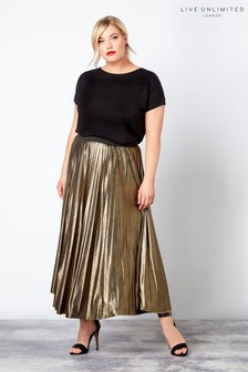 Live Unlimited Gold Ity Foil Skirt