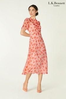 L.K.Bennett Pink Sina Dress