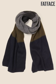 FatFace Blue Stripe Colour Block Scarf