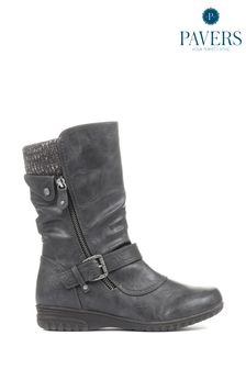 Pavers Grey Ladies Calf Boots