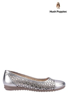 Hush Puppies Grey Leah Ballerina Pumps