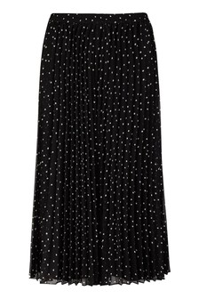 Monsoon Black Spot Pleated Wide Leg Trousers