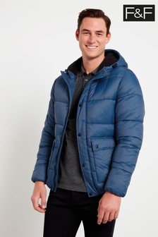 F&F Blue Padded Hooded Jacket