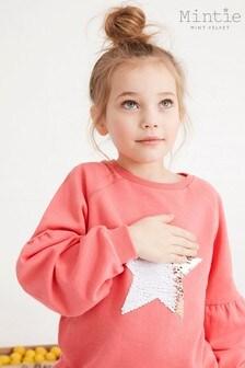 Mintie by Mint Velvet Pink Star Sweatshirt