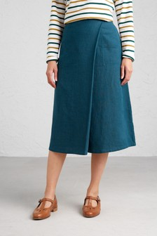 Seasalt Blue Art Studio Skirt