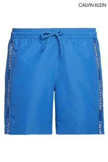 Calvin Klein Blue CK Logo Tape Medium Drawstring Trunks