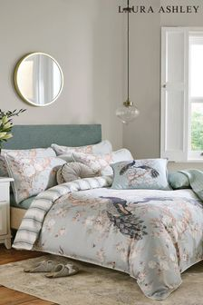 Laura Ashley Belvedere Duck Egg Duvet Cover and Pillowcase Set