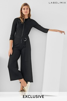 Next/Mix Zip Front Jersey Jumpsuit