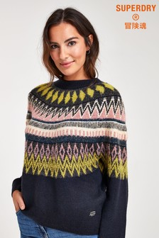Superdry Maggi Fairisle Pattern Jumper