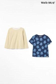 White Stuff Blue Timmy Jersey T-Shirts Two Pack