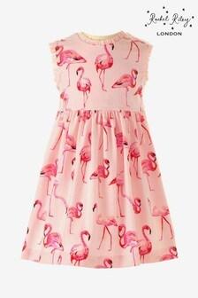 Rachel Riley Pink Flamingo Baby Dress