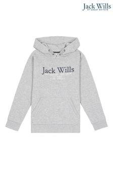 Jack Wills Boys Grey Hoodie
