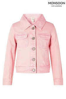 Monsoon Pink Primrose Garment Dye Denim Jacket