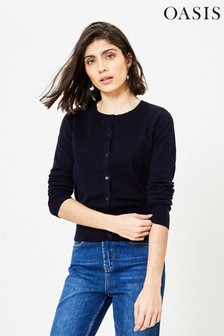 Oasis Blue Crew Knit Cardigan
