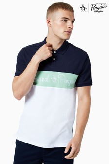 Original Penguin® Chest Stripe Script Logo Poloshirt