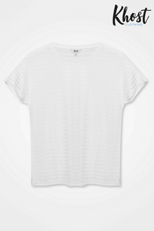 Khost White Burn Out Stripe T-Shirt