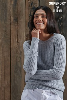 Superdry Grey Croyde Knit Jumper