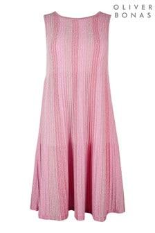 Oliver Bonas Pink Sparkle Ottoman Dress