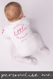 Personalised Daddy's Little Princess Sleepsuit