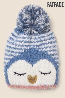 Modrá čiapka s brmbolcom a tučniakom FatFace