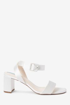 Bridal Satin Buckle Sandals