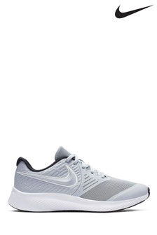 Nike Run Grey/White Star Runner Youth Trainers