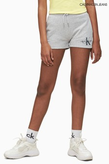 Calvin Klein Jeans Grey Iridescent Monogram Sweat Shorts