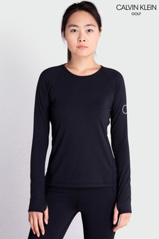 Calvin Klein Golf Womens Black Vibe Longsleeved T-Shirt