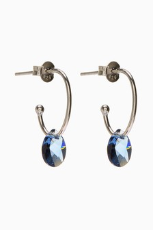 Hoop Earrings With Swarovski® Crystals