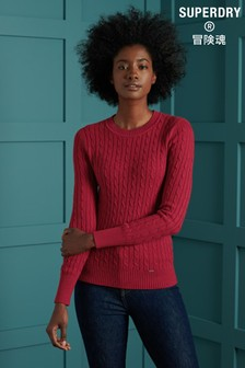 Superdry Red Croyde Knit Jumper