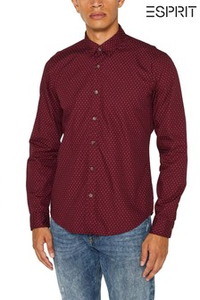 Esprit Red Casual Shirt With All Over Print