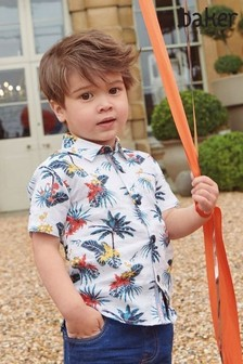 Baker by Ted Baker Boys Tropical Printed Shirt