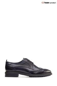 Base London Blue Lennox Wingtip Derby Shoes