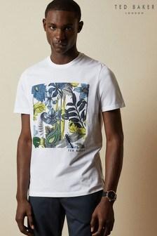 חולצת טי מודפסת של Ted Baker דגם Yelp Graphic Square