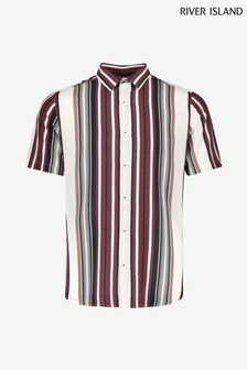 River Island White Textured Stripe Shirt