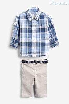 Ralph Lauren Blue Plaid Outfit Set