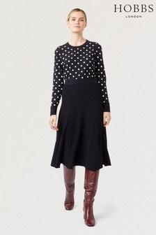 Hobbs Blue Ana Knitted Skirt