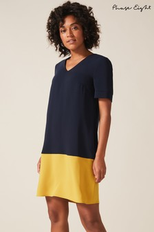 Phase Eight Blue Jodie Colourblock Dress
