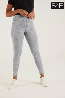 F&F Jegging Acid Light Grey Jeans