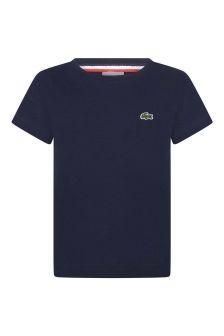 Boys Navy Cotton Top