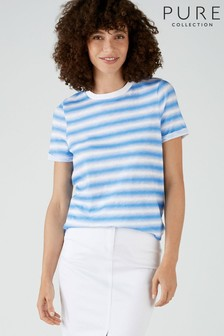 Pure Collection Blue Cotton Jersey T-Shirt