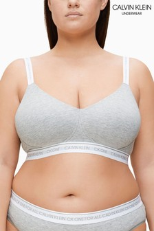 Calvin Klein Grey Plus Lightly Lined Bralette