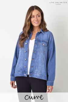 Live Unlimited Curve Washed Denim Jacket