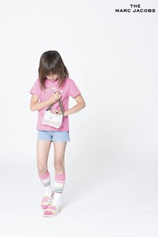 The Marc Jacobs Pink Multicoloured Logo T-Shirt