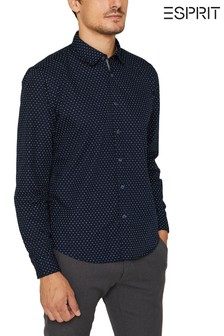 Esprit Blue Casual Shirt With All Over Print