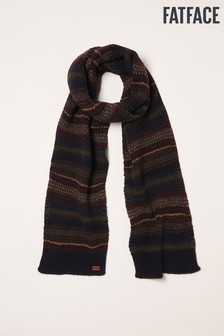 FatFace Navy Textured Knit Scarf
