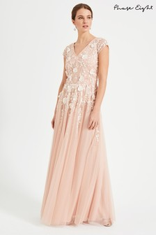 Phase Eight Pink Henriette Flower Maxi Dress