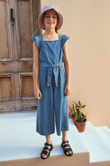 Frill Shoulder Cropped Jumpsuit (3-16yrs)