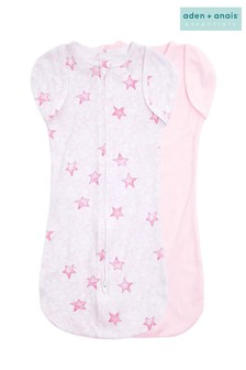 Aden & Anais™ Pink Twinkling Stars Essentials Easy  2 Pack Swaddles
